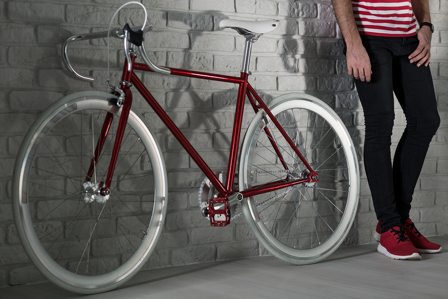 red fixie bike